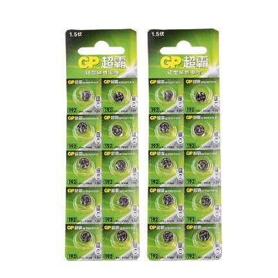 GP超霸纽扣电池碱性192 LR41 AG3 V3GA 392 L736手表电子1.5V20节