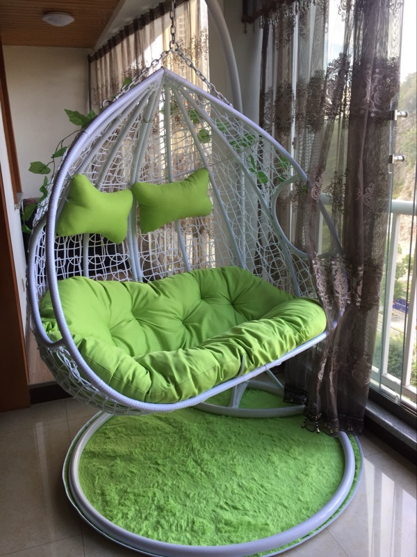 Double Hanging Chair Thick Rattan Hanging Basket Indoor And Outdoor Single  Rattan Chair Rocking Chair Hammock Double Swing Chair Adult Cradle Chair