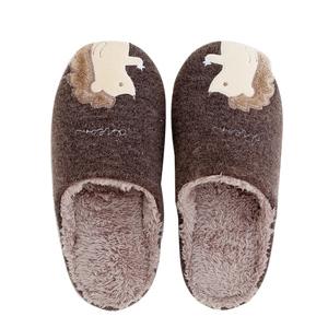 日式秋冬季卡通刺猬棉拖鞋可爱情侣拖鞋家居室内软底毛绒加厚防滑
