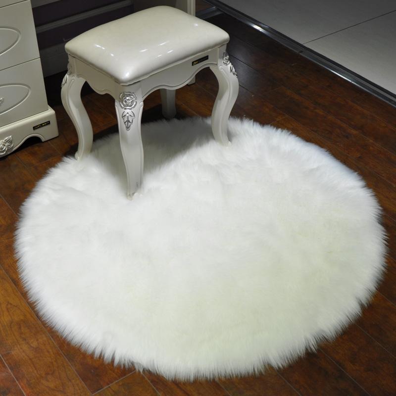 ковер Белый плюшевый ковер смесовой шерсть ковер спальня из искусственного ватки ковер shaggy коврики прикроватные окно ковер ковер