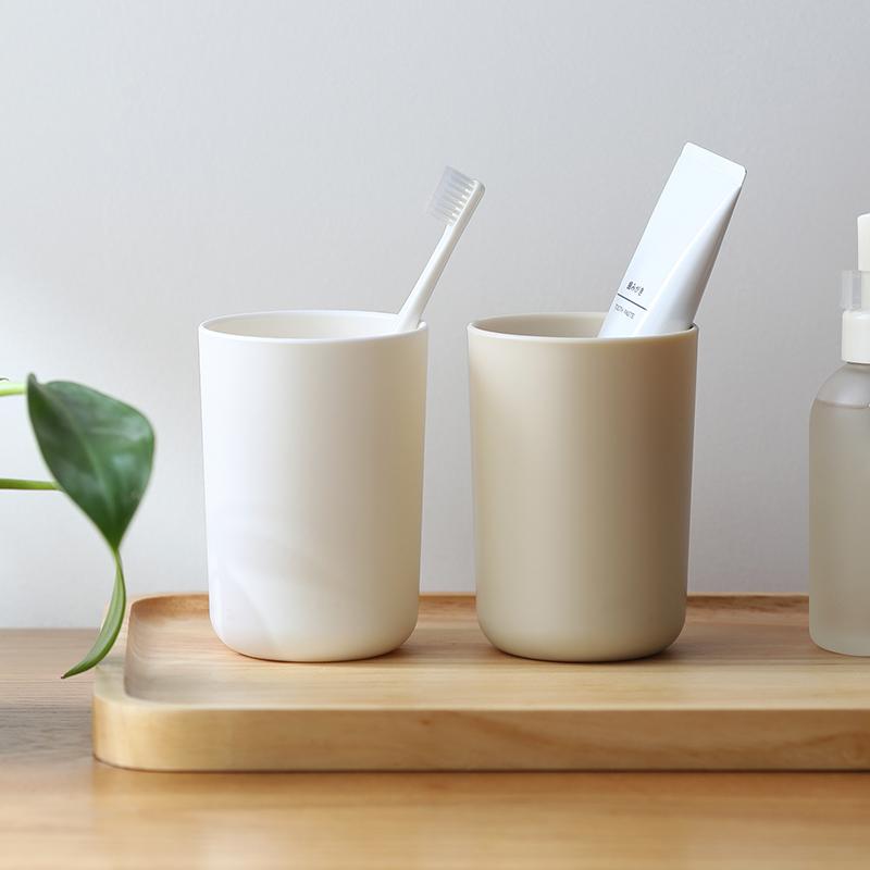 日式ins 简约环保漱口杯加厚情侣牙刷杯塑料口杯家用洗漱杯子学生