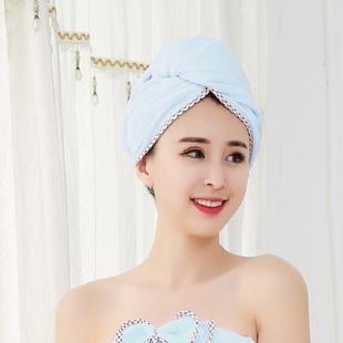 出口日本干发帽女可爱印花强力吸水擦头发速干毛巾包头巾长发浴帽
