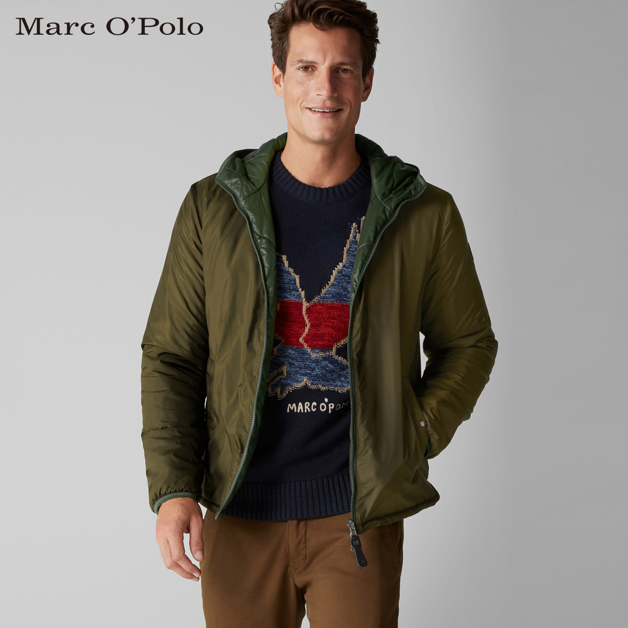 Marc O'Polo-MOP 2018新款男士长袖连帽夹克 827096770154