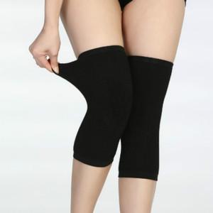 男女通用四季过膝袜套护膝 防滑养护护膝 羊绒毛超薄护膝套