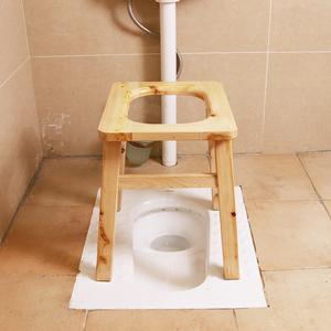 实木香柏木老人坐便凳孕妇坐便器马桶櫈上厕所凳子坐便椅木质加高