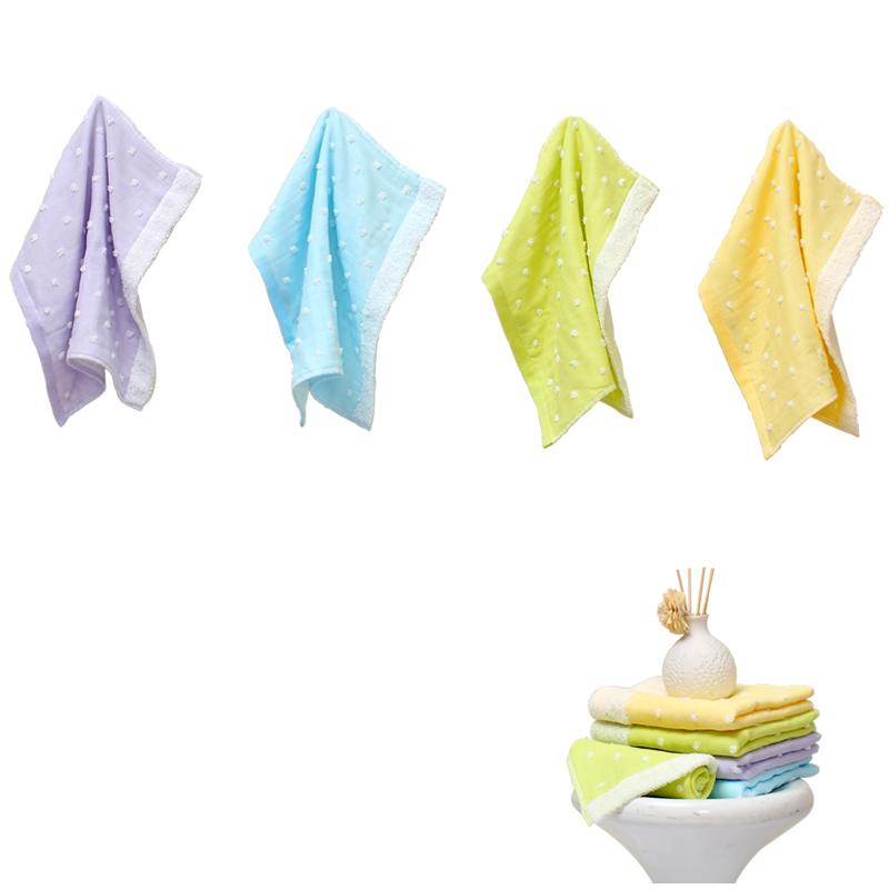 富安娜家纺圣之花毛方浴三件套面巾组合四件套加厚吸水浴巾