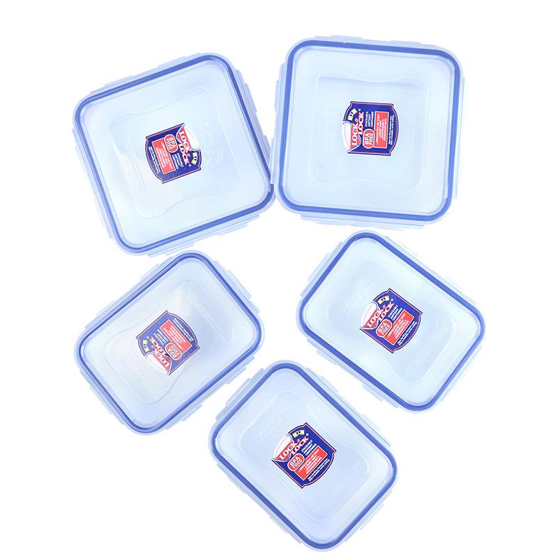 乐扣乐扣微波炉碗 厨房家用塑料储物盒礼盒套装冰箱密封收纳盒