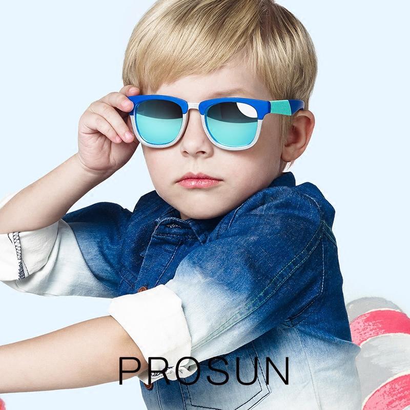 保圣儿童眼镜男女儿童太阳镜个性儿童偏光镜时尚墨镜可弯曲PK2016