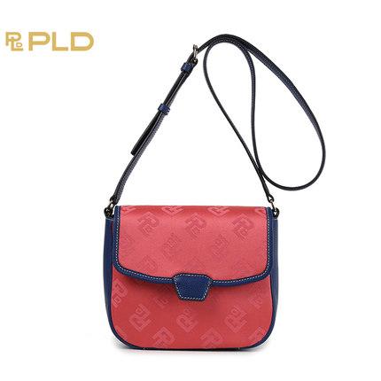 保兰德PLD新款上市女包高贵简约时尚单肩斜挎包盖式小方包WA7462