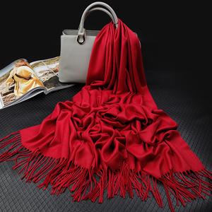 上海故事秋款大红色围巾男女本命年民族风冬季喜庆百搭披肩礼盒装