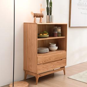 榆柳轩北欧实木橡木小书架陈列架书房家具简约现代展示架书柜