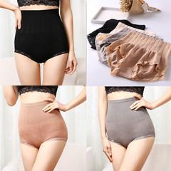 实拍,实价,正品,无缝,高腰,收腹,提臀,暖宫,记忆,蕾丝,塑身,打底,内裤,肤色,均码