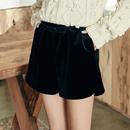 韩国高腰显瘦百搭加绒加厚黑色靴短裤