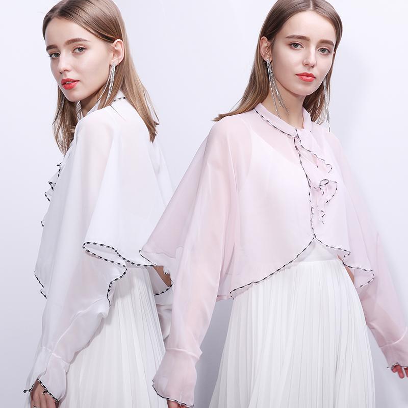 上海故事夏天防晒衣2020新款轻薄夏季防晒披肩开车长袖斗篷女薄款