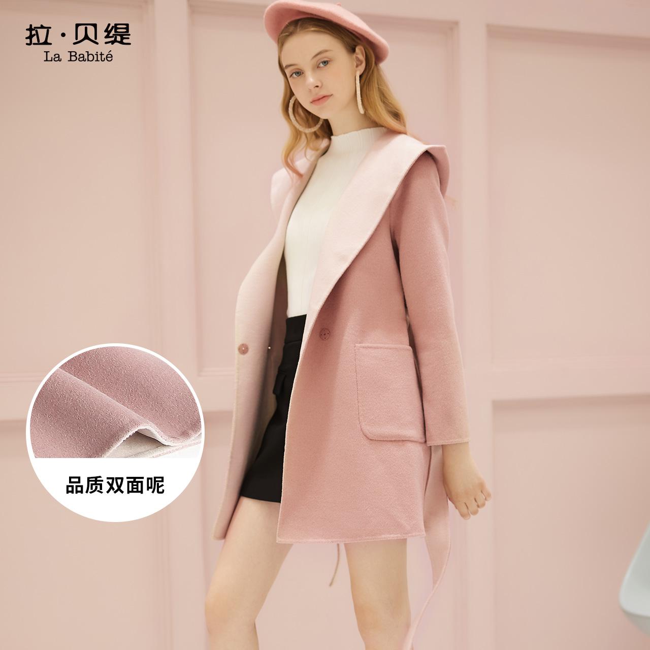 Z雙面呢大衣女中長款2018秋冬新款韓版修身寬松學生毛呢羊毛外套
