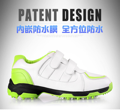 New listed golf children's shoes golf shoes men and women with the same waterproof breathable