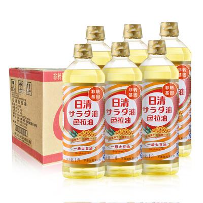 日清色拉油整箱1L*6瓶无色无味烘焙蛋糕油一级大豆油非转基因油