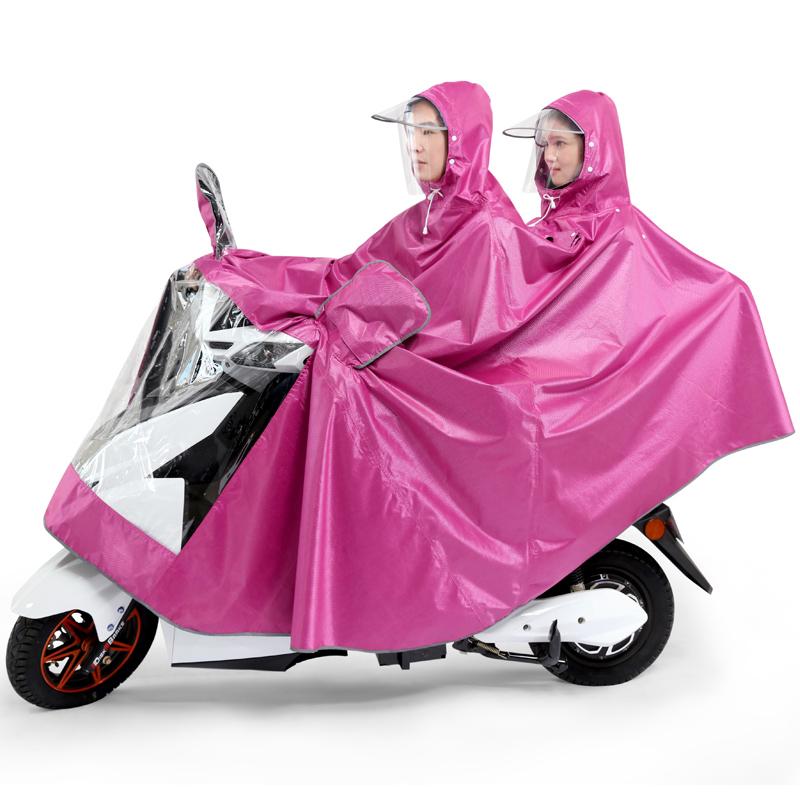 双人雨衣成人骑行电动摩托车雨衣加大加厚男女单人电瓶车雨衣雨披