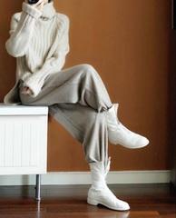 新品,钜惠,重磅,加厚,100%,羊绒衫,高领,韩版,慵懒,宽松,套头,毛衣