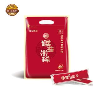 金日禾野猴菇米稀猴头菇早餐营养米糊冲饮麦片袋装原味450g15天装