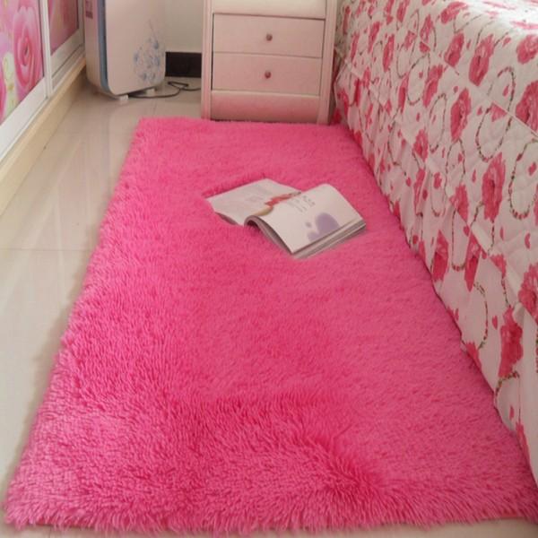 ковер Толстые стирать шелковистый гостиной журнальный столик спальня прикроватные коврики могут быть настроены полный магазин милые коврики