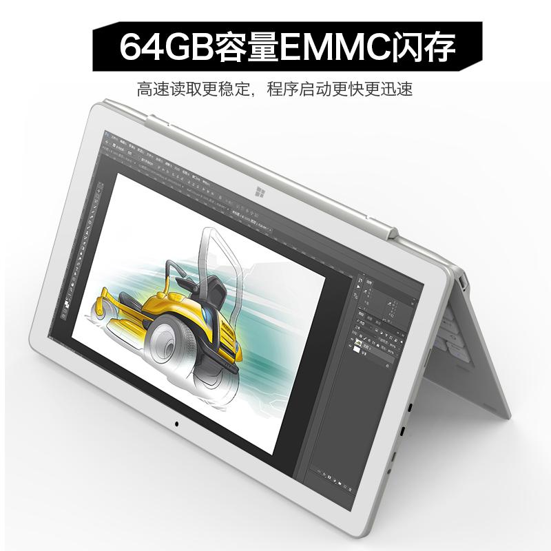 双系统PC二合一平板电脑10.1英寸win10移动 办公 酷比魔方 iwork10 pro 安卓智能游戏本 windows系统64GB