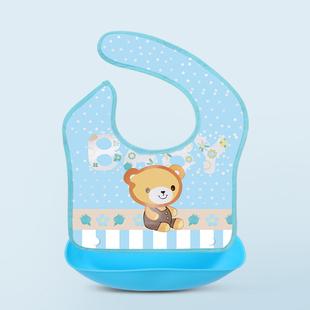 硅胶婴儿宝宝吃饭围兜卡通软硅胶