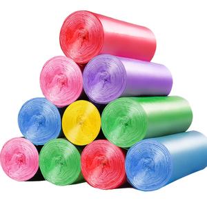 汉世刘家垃圾袋家用大号彩色拉级袋批发塑料袋中号新料加厚5卷装