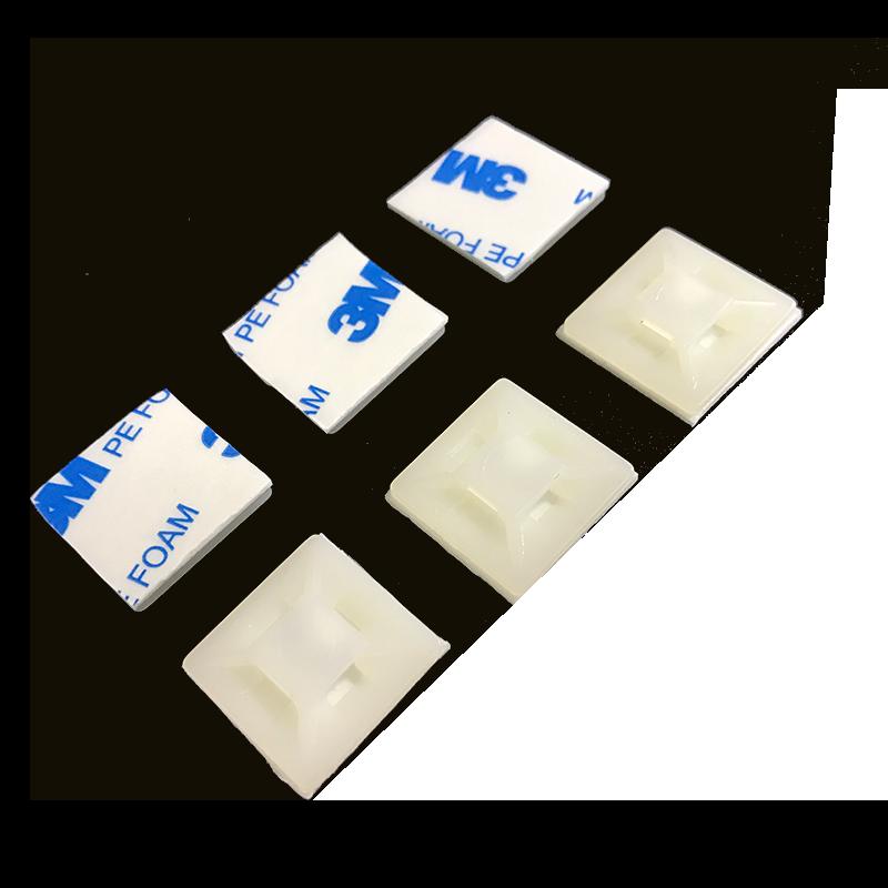 进口3M胶 粘式配线固定座 电线整理粘贴吸盘方块HC HS-101 21mm