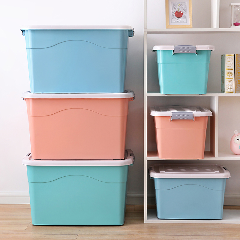 Extra Large Clothes Storage Box Plastic Book Box Storage Box Clothing  Storage Box With Cover Storage ...