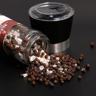 万兴姜老大海盐黑胡椒粒研磨西餐牛排调料健身调料黑胡椒粉140g