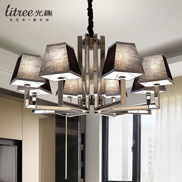 简约现代客厅吊灯 LED餐厅卧室灯 矮户型时尚不锈钢简欧灯具