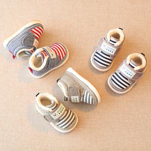 冬季儿童加厚二棉鞋男宝宝加绒保暖鞋子婴儿冬鞋小童女0-1-3岁2一