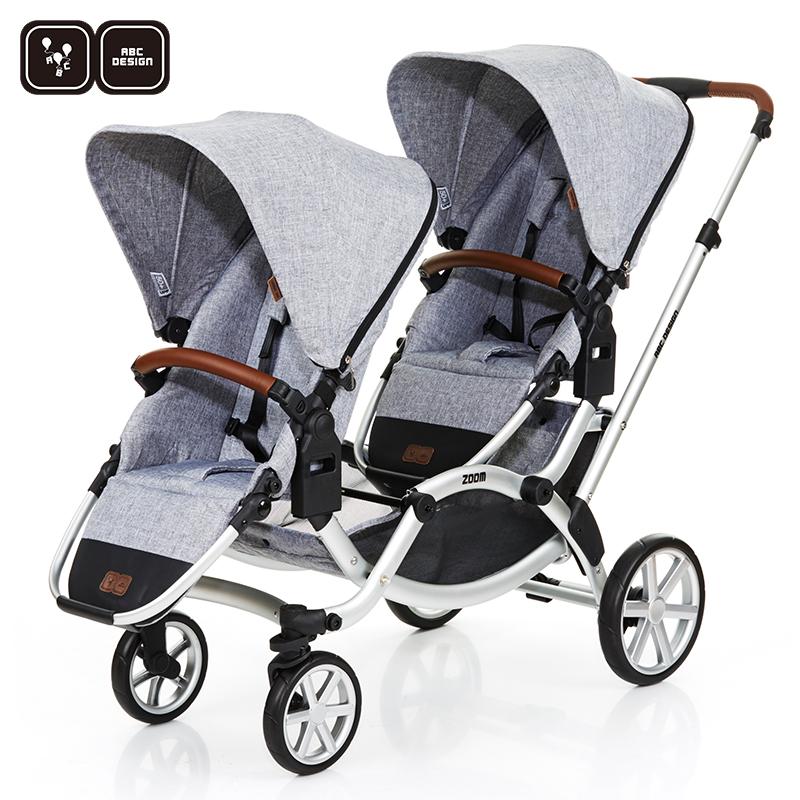 德国ABC Design高景观避震双胞胎婴儿推车双向可坐可躺新生儿ZOOM