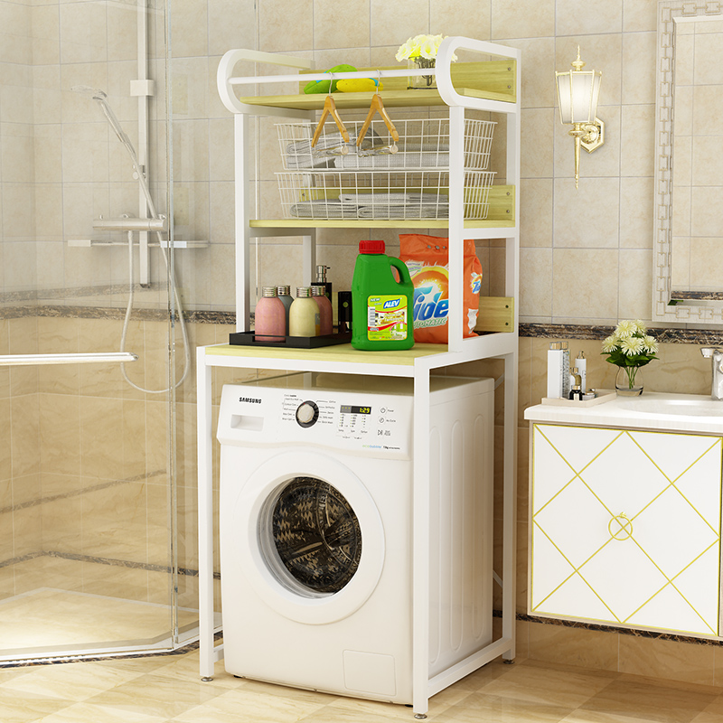 Washing machine shelf floor roller washing machine shelf bathroom ...