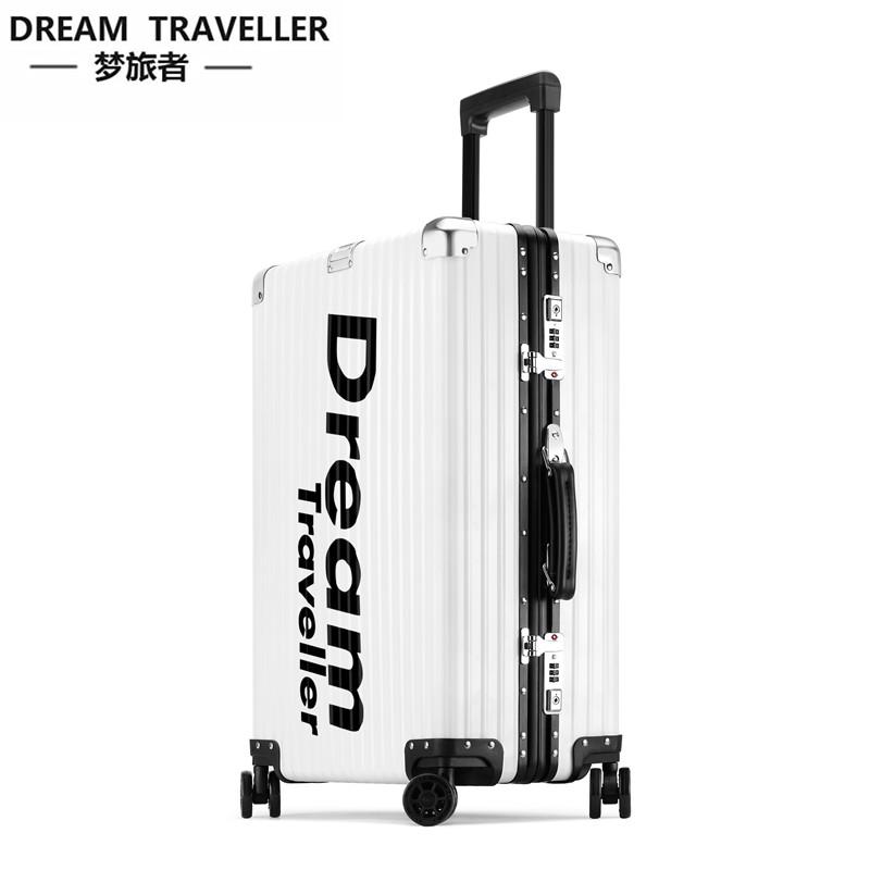 限量版潮牌全铝镁合金拉杆箱密码箱个性行李箱男女旅行箱图案定制