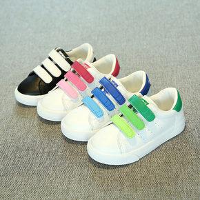 芭芭鸭儿童白鞋男童2017春夏新款女童白鞋透气网鞋儿童白色运动鞋