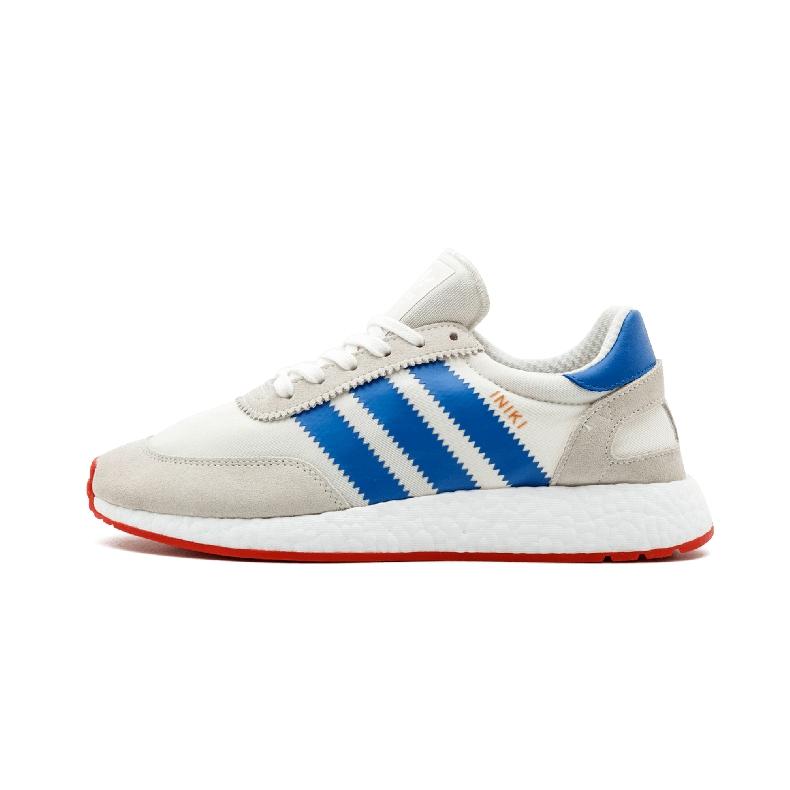 Adidas Iniki Runner阿迪达斯三叶草白蓝条纹复古男女跑鞋BB2093