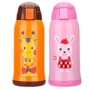 儿童保温杯两用吸管壶幼儿园小学生水杯子不锈钢宝宝防摔便携水壶