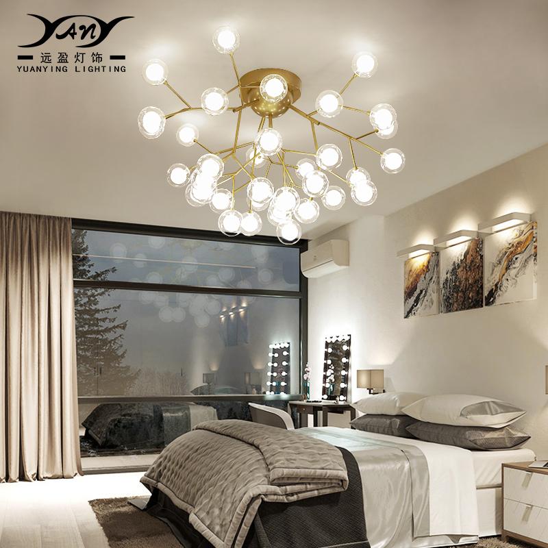 北欧现代萤火虫吸顶灯设计师创意个性泡泡球餐厅客厅温馨卧室灯具