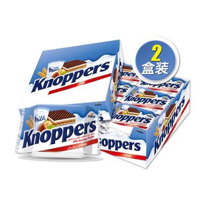 knoppers榛子巧克力五层威化饼48包1200g网红小吃零食大礼包休闲