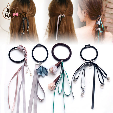 Hair Accessories Korean version cute ponytail hair ring headband ribbons rubber band headdress female
