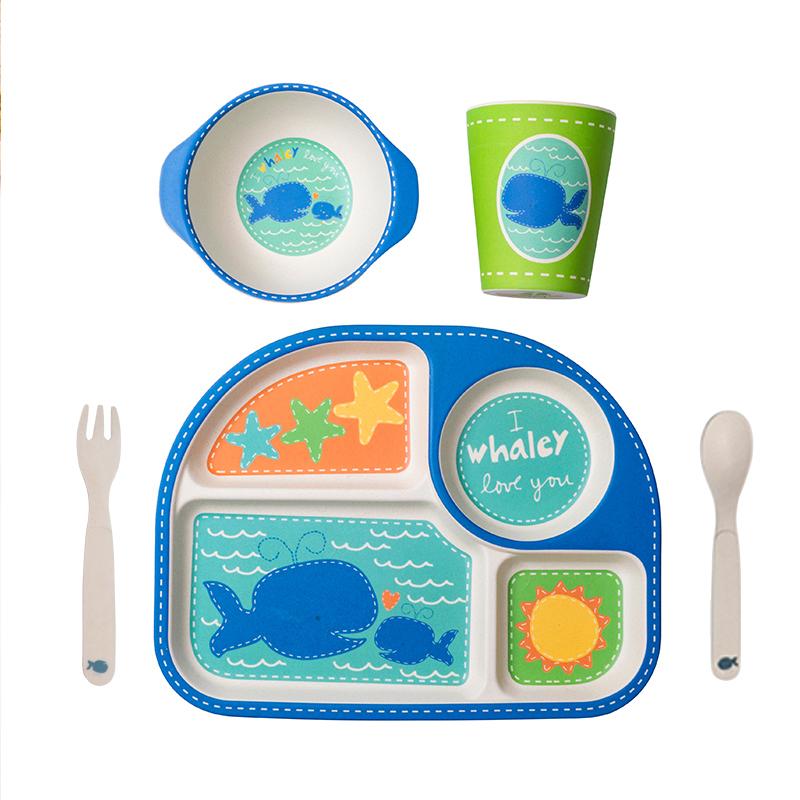 【超市同款】COECO竹纤维儿童餐具套装