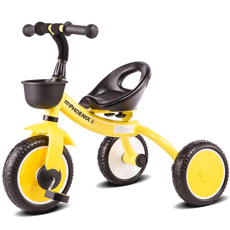 凤凰儿童三轮车1-3岁宝宝童车玩具车 2-3-5岁幼儿轻便婴儿脚踏车