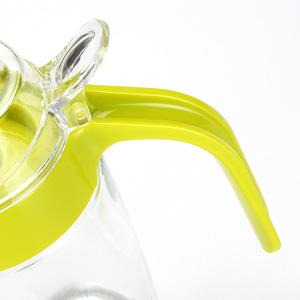 茶花油壶玻璃家用防漏大号厨房醋壶小号油罐酱油瓶醋瓶油瓶套装