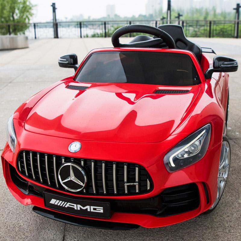 Mercedes Benz Elektrische Auto Vier Kinderen Baby Speelgoed Auto Met