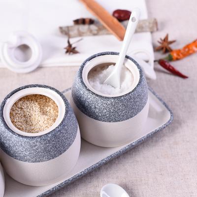 日式创意油盐罐陶瓷调味罐套装厨房用品多功能家用调味料瓶组合