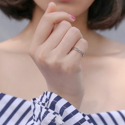 [夏初旗舰店戒指,指环]925纯银尾戒女小指戒指时尚个性 网月销量315件仅售29.6元