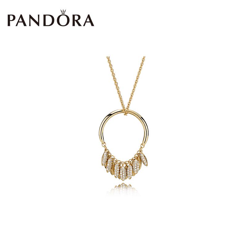 潘多拉PANDORA Shine种子圆环项链367683CZ麦穗优雅气质饰品女