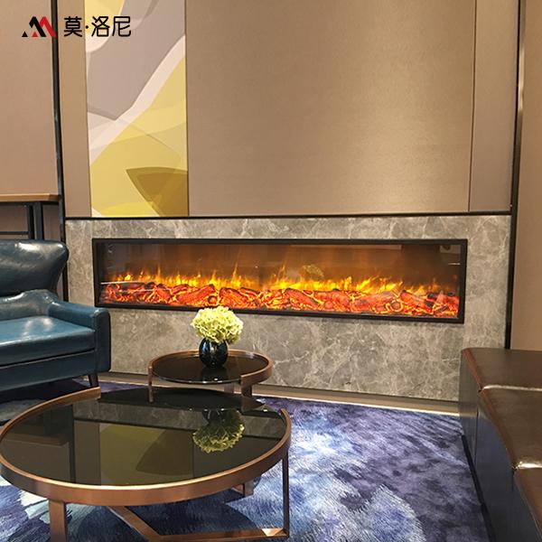 莫洛尼壁炉定制单面双面三面四面异形壁炉芯定制
